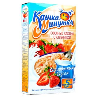 "Oat Flakes ""Kasha Minutka"" with Garden Strawberries"