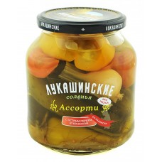 "Assorted Salted Vegetables ""Lukashinskie"" with Hot Pepper Baku style 670g"
