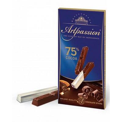 """Milk Chocolate sticks """"Artpassion"""" 75% Cocoa with Almonds"""