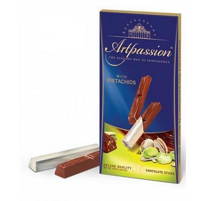 "Chocolate sticks ""Vdokhnoveniye"" (Artpassion) with Pistachios"