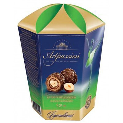 "Candy ""Artpassion"" with Truffle cream and Whole Hazelnut  150gr"