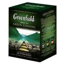 """Greenfield Green Tea """"Green Ginseng"""" 20 pak"""