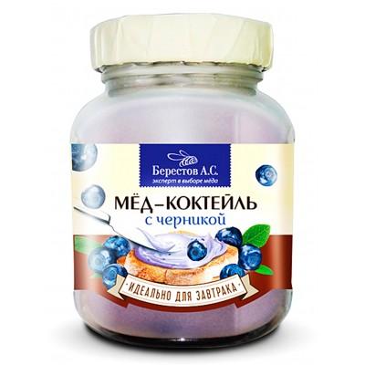 "Honey cocktail ""Berestov"" with blueberries"