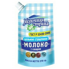"Condensed milk ""Molochnaya Strana"" with sugar 270 gr"