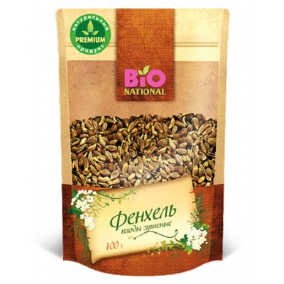 "Fennel Dried fruits  ""Bionational"" 100 gr"