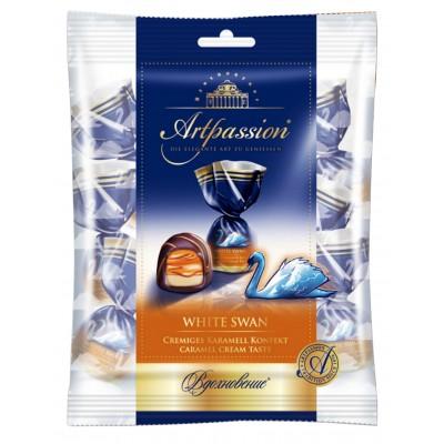 "Candy ""Artpassion"" ""White Swan"" caramel cream taste 250gr"