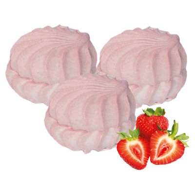 """Marshmallow """"Sanzhe"""" with strawberry pieces (case)"""