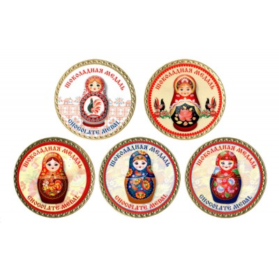 "Chocolate Medal ""Matryoshka"" (Red)"