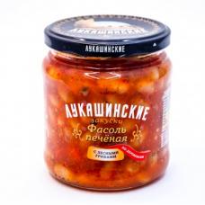 "Baked beans ""Lukashinskie"" Village-style with mushrooms 450g"