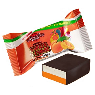 """Candies """"Apricot"""" with souffle (Sugar  FREE)"""