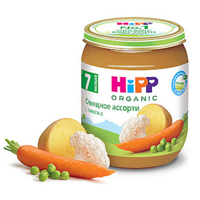 """HiPP"" Vegetable Mix Puree 125g/4.4oz (7 month +)"