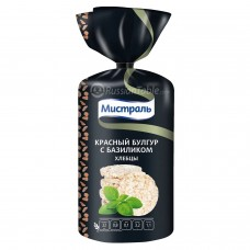 Mistral Red Bulgur bread with basil, 100g