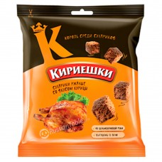 """Rye-wheat croutons """"Kirieshki"""" chicken flavored 40g"""