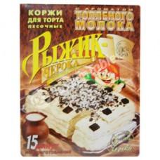 """Shortbread Cake Layers ""Ryzhik-Cheroka"" with baked milk flavour"