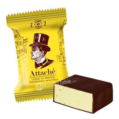 "Souffle ""Attache"" lemon cheesecake flavored"