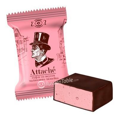 "Souffle ""Attache"" raspberry cheesecake flavored"
