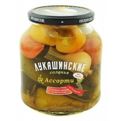 "Assorted Salted Vegetables ""Lukashinskie"" with Hot Pepper Baku style 670g"