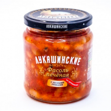 "Baked beans ""Lukashinskie"" Village-style with mushrooms 450g"