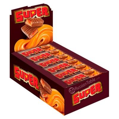 """Bar  """"Super"""" Nougat  & Caramel 40gr"""
