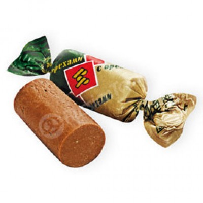 "Imported Russian Candies Batonchik ""Rot Front with Nuts"""