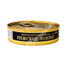 "Big Sprats in Oil ""Riga Gold"" 160gr"