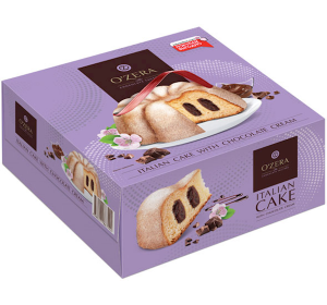 """Biscuit Cake """"Ozera"""" Italian with Chocolate Filling 520g"""