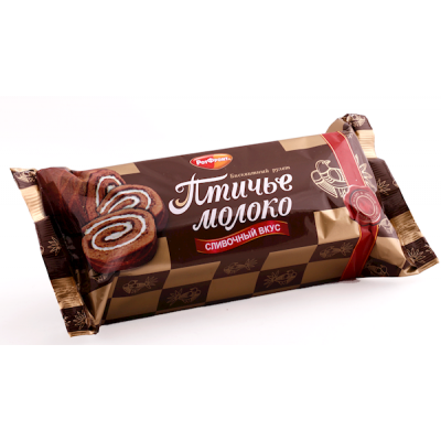 """Biscuit roll cake """"Ptiche Moloko"""" Creamy filling 200g"""