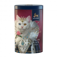 "Black Ceylon leaf tea ""Richard"" The Royal Cats (White Cat) 80g"
