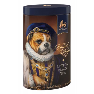 "Black Ceylon Leaf tea ""Richard"" The Royal Dogs (Mops) 80g"