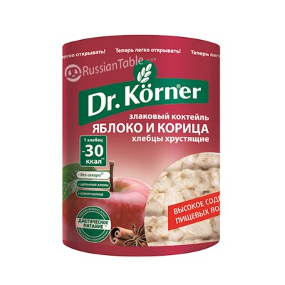 """Bread Loafs (Hlebtsy) """"Dr. Korner"""" apple & cinamon 100g"""