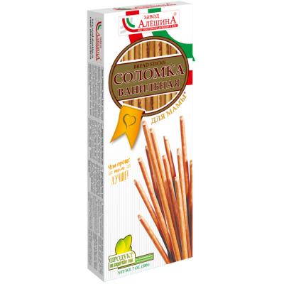 """Bread Sticks (Solomka) """"Aleshin"""" Vanilla Taste 200g"""