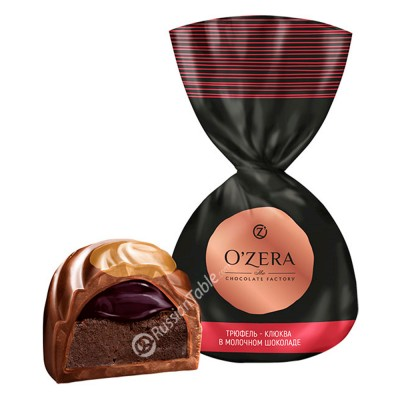 "Candies ""OZera"" Truffle - cranberries in milk chocolate"