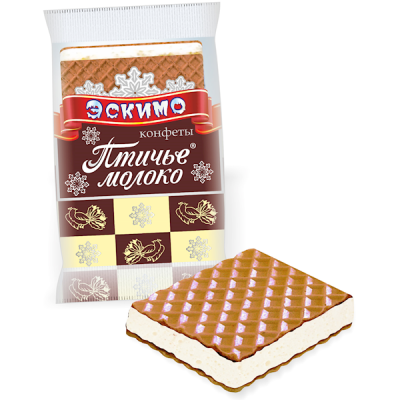 "Candies ""Ptichye Moloko""  Eskimo with Wafer"