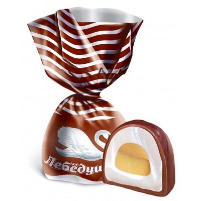 """Candy """"Lebedushka"""" filled with a soft toffee"""