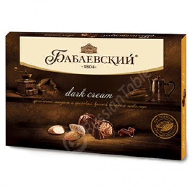 "Candy Set ""Dark Cream"" with crushed Almonds and Hazelnut cream 200g"