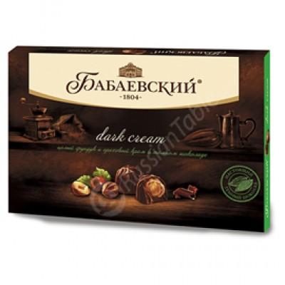 "Candy Set ""Dark Cream"" with whole Hazelnuts and Hazelnut cream 200g"