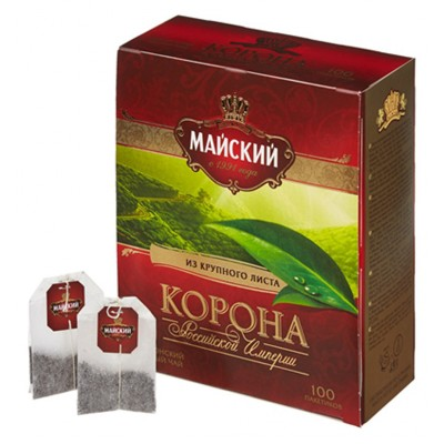 "Ceylon tea ""Maisky"" Crown of the Russian Empire (100 count)"