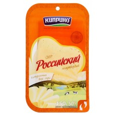 "Cheese ""Kiprino"" Russian semi-hard (sliced) 150g"