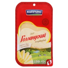 "Cheese""Kiprino"" Holland semi-hard (sliced) 150g"