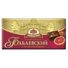 "Chocolate Dark ""Babaevsky"" with Grapefruit pieces 100g"