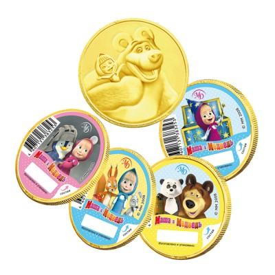 "Chocolate Medal ""Masha and Bear"" (1 unit) 25g"
