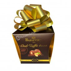 "Chocolates ""Babaevsky"" Dark Truffle cream with Almond (bow) 500g"