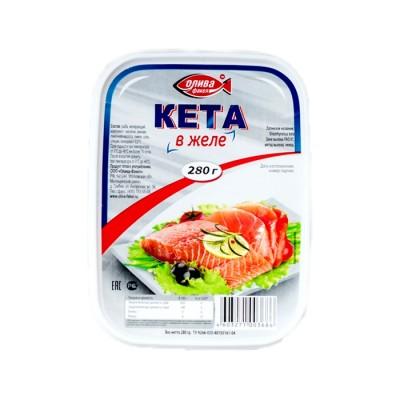 "Chum Salmon ""Oliva-Fakel"" in Jelly 280g"