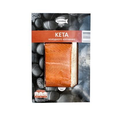 "Chum Salmon ""Oliva-Fakel"" Cold Smoked Fillet 250g"