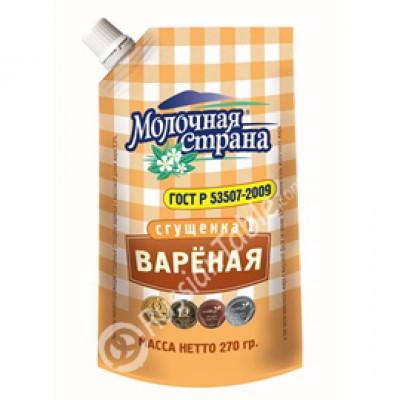 "Condensed Milk ""Molochnaya Strana"" Boiled 270g"