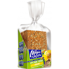"Crisp Bread ""Magic Grain"" with Flax, Sunflower and Sesame Seeds 160g"