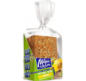 "Crisp Bread ""Magic Grain"" with Flax, Sunflower and Sesame Seeds 160g"