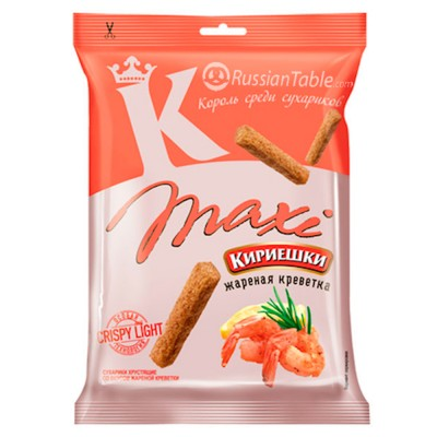 "Croutons ""Kirieshki MAXI"" with roasted shrimp flavor"