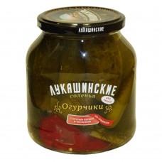 "Cucumbers ""Lukashinskie"" Armenian style (salted) 670g"