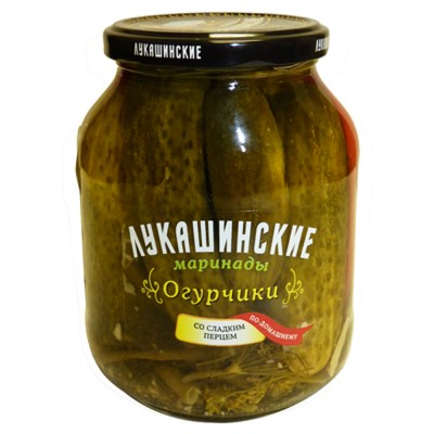 "Cucumbers ""Lukashinskie"" with Sweet Pepper 670g"